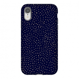 iPhone Xr  Dotted Gold and Navy by Caitlin Workman