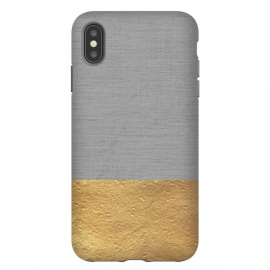 iPhone Xs Max  Color Blocked Gold and Grey by Caitlin Workman