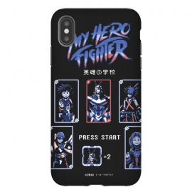 iPhone Xs Max  My hero fighter by Ilustrata (anime, boku no hero academia,my hero academia,manga,pixel,video game,games,gammer,game,street fighter,nintendo)