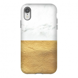 iPhone Xr  Marble and Gold by Caitlin Workman
