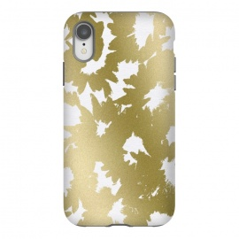 iPhone Xr  Gold Floral by Caitlin Workman