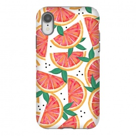 iPhone Xr  Citrus Surprise by Uma Prabhakar Gokhale (watercolor, pattern, food, fruit, orange, grape fruit, tropical, citrus, sour, nature, fruit pattern, juicy, delicious, sweet, exotic)