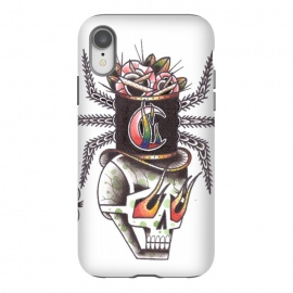 iPhone Xr  Skull6 by Evaldas Gulbinas  (skull,hat,fire,moon)