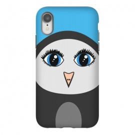 iPhone Xr  Cute Cartoon Geometric Penguin Face by Boriana Giormova (penguin,animal,bird,penguins,animals,birds,cute,cartoon,character,big eyes,cute penguin,cartoon penguin)