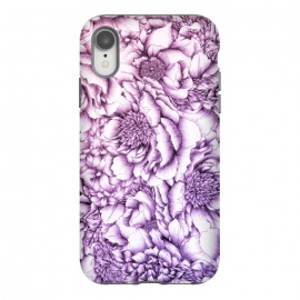 Peony Flower Pattern by ECMazur  (peony,flower,floral,pink,purple,blossoms,botanical,pretty)