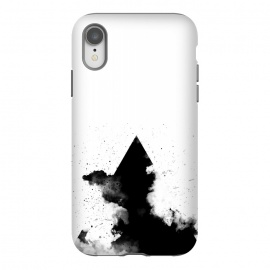 iPhone Xr  PLACE Triangle Smoke by  (Black,White,blackandwhite,geometry,triangle,smoke,clouds,sky,minimal,minimalism)