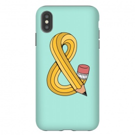 iPhone Xs Max  Ampersand Pencil Green by Coffee Man