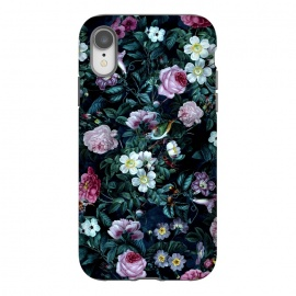 iPhone Xr  Blue Night by Riza Peker (floral,roses,vintage,dark,pattern)