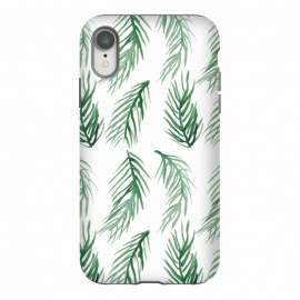 iPhone Xr  Watercolor Palm Leaves by ALIPRINTS Design Studio