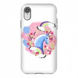 iPhone Xr  Floral Unicorn by MUKTA LATA BARUA
