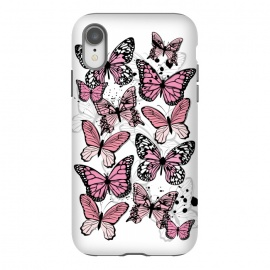 iPhone Xr  Stylish Pink Butterflies by Martina (animal, nature,butterfly,pink ,feminine,modern,stylish,pretty,girlie,cute,sweet,butterflies)