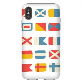 iPhone Xs Max  Nautical Flags by Michelle Parascandolo