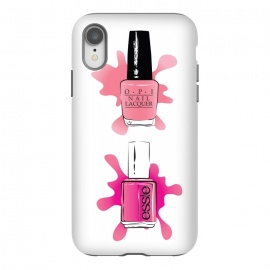 iPhone Xr  Pink nail polish manicure by  (pink,modern, stylish, original, unique,for her,feminine, cute,nail polish, manicure, beauty,beautician,salon,nails,illustration, opi,essie, brand)