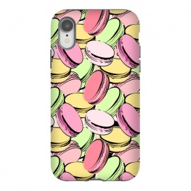 iPhone Xr  Sweet Macarons by Martina (macarons, dessert, sweet, yummy,food,colourful, modern, stylish, fashion, beauty, original, unique, for her, feminine, girlie, illustration,france, french, paris, pattern)