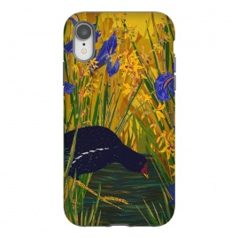 iPhone Xr  Moorhen and Iris by Lotti Brown