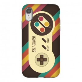 iPhone Xr  Retro Video Gamer Serie II by Dellán (gamer,video game,retro,vintage,classic, 8 bit,geek,nerd,computer,tech,hipster,brown color,80´s,90´s)