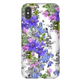 iPhone Xs Max  Flora Light 1 by Zala Farah (vintage,vintage flowers,flowers,flower,flower art,floral,flora,floral print,floral pattern,floral collage,flora art,flora pattern,flower print,flower pattern,nature,cute,purple flowers,pattern,art,pretty,girls,mothers day,birthday,floral print art,botanic print,plants,botanic,botanical,zala02creatio)