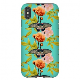 iPhone Xs Max  Tropical Butterfly Garden by Zala Farah (Tropical Butterfly Garden,tropical,garden,butterfly,butterflies,vibrant,colorful,pretty,exotic,floral,floral art,flowers,flower art,flower print,pattern,collage,boho,trendy,lush,cute,insects,bugs,abstract,abstract nature,zala02creations)