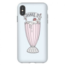 iPhone Xs Max  Shake It by Barlena (Milkshake, Sweet, Retro, Illustration, Drink, Cherry, Typography, shake, fun, young)