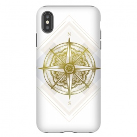 iPhone Xs Max  Golden Compass by Barlena (gold,golden,compass,north,west,south,east,explore,travel,adventure)