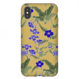 iPhone Xs Max  Villa by Zala Farah (blue,blue flowers,blue flower art,flower,flowers,flower print,flower pattern,print,pattern,art,collage,flower collage,flower art,flora,floral,floral print,floral pattern,floral art,floral collage,nature,nature art,nature pattern,vintage,vintage flowers,vintage flower print,vintage art,vintage collag)