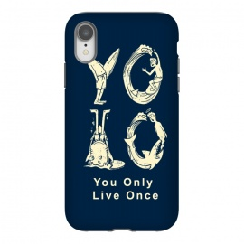 iPhone Xr  YOLO you only live once by Coffee Man (yolo,you only live once,shark,surf,summer,vacation,spring break,ocean,sea,lettering,fun,funny)
