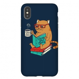 iPhone Xs Max  Cat drink good coffee read good books by Coffee Man
