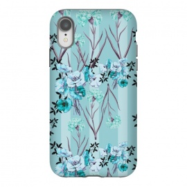 iPhone Xr  Floral Love X (Blue) by Zala Farah