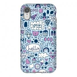 iPhone Xr  Good Times Blue by  (pizza,cloud,rainbow,lips,doodle,gem,lollipop,fun,pineapple)