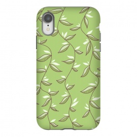 iPhone Xr  Green Leaves And Lianas Pattern by Boriana Giormova
