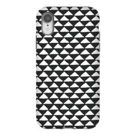iPhone Xr  Triangle pattern seamless black and white by