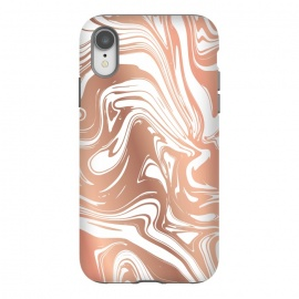 iPhone Xr  Liquid Copper Marble 029 by Jelena Obradovic