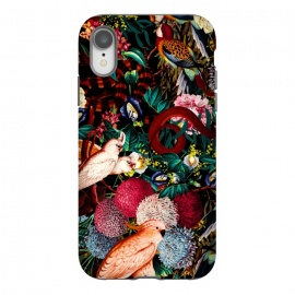 iPhone Xr  Floral and Animals pattern II by Burcu Korkmazyurek