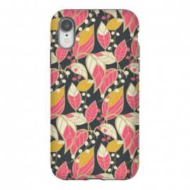 iPhone Xr  Seamless floral pattern with hand drawn leaves 002 by Jelena Obradovic
