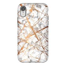 iPhone Xr  Marble Texture and Gold Splatter 039 by Jelena Obradovic