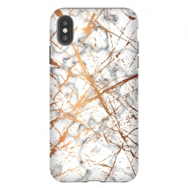 iPhone Xs Max  Marble Texture and Gold Splatter 039 by Jelena Obradovic