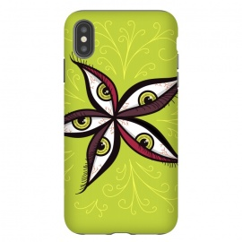 iPhone Xs Max  Weird Abstract Green Eyes Flower by Boriana Giormova
