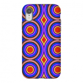 iPhone Xr  Trip Mandala by Bettie * Blue (mandala,bright colors,pattern,red,purple,fun)