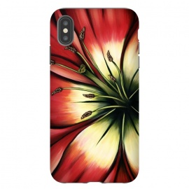 iPhone Xs Max  Red Lily Flower by Denise Cassidy Wood