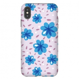 iPhone Xs Max  Gentle Blue Flowers Pattern by Boriana Giormova
