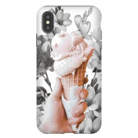 iPhone Xs Max  Floral Ice-Cream by Zala Farah (icecream,ice cream,ice-cream,food,summer food,cool down,cute,floral,flower,flower print,print,floral collage,yummy,eat,nature,nature print,floral art,abstract,zala02creations,strawberry ice cream)