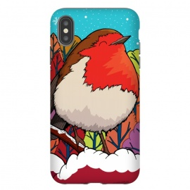 iPhone Xs Max  The Big Red Robin by Steve Wade (Swade)
