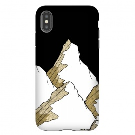 iPhone Xs Max  Gold Tone Mountains by Steve Wade (Swade)