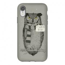 iPhone Xr  It's winter bitch! by  (owl,bird,winter,funny)