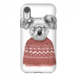 iPhone Xr  Winter koala (red) by Balazs Solti