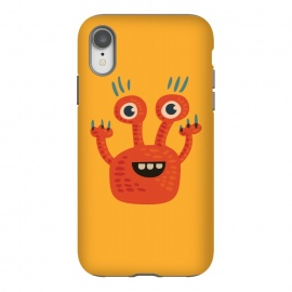 iPhone Xr  Funny Big Eyed Smiling Cute Monster by Boriana Giormova