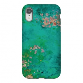 iPhone Xr  Impressionist Lake by Zoe Charlotte (impressionist,impressionistic,lake,water,waterlilies,aqua,turquoise,pond,paint,painted,hand painted,abstract painting,monet,artwork,original artwork)