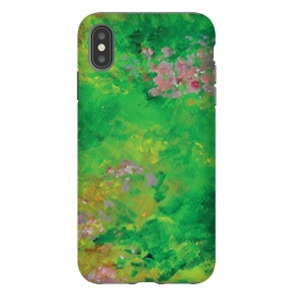 iPhone Xs Max  Impressionist Meadow by Zoe Charlotte (meadow,field,field of flowers,floral ,impressionist,impressionistic,monet,artwork,original artwork,hand painted,paint,painting,abstract painting,wildflowers)