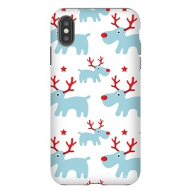 iPhone Xs Max  Cute Reindeers by Martina (cute,sweet,animals,reindeer,xmas,christmas,festive,pattern,seasonal,nature,for her,unisex,for kid)