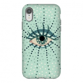 iPhone Xr  Beautiful Abstract Dotted Blue Eye by
